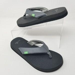 Sanuk Yoga Mat Flip Flop Womens Thong Sandals Gray